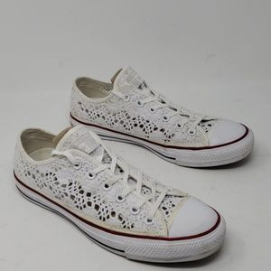 Converse All Star Ox Lace Crochet Sneakers 9
